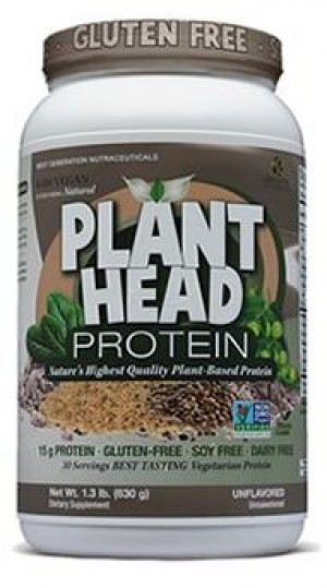Genceutic Naturals Plant Head Protein - Unflavored - 1.3 lb