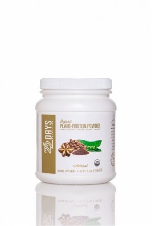 22 Days Nutrition Plant Protein Powder, Natural, 12.7 oz