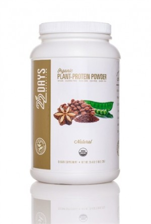 22 Days Nutrition Plant Protein Powder, Natural, 25.4 oz