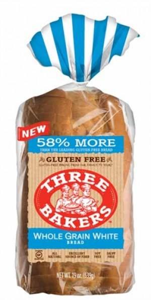 Three Bakers Gluten Free Whole Grain White Bread (Case of 6)