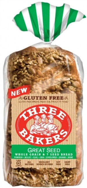 Three Bakers Great Seed Bread, 17 Oz Loaf