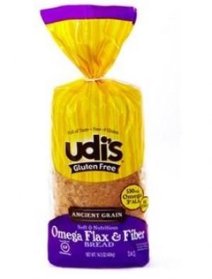 Udi's Gluten Free Omega Flax & Fiber Bread - 1 Case