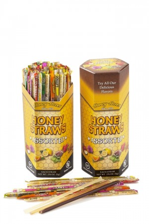 Honey Acres Honey Straws, Assorted Flavors, 100 Straws