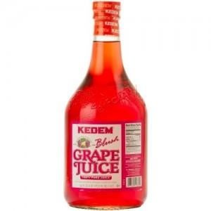 Kedem 100% Pure Kosher Blush Grape Juice, 50.7 oz [Case of 8]