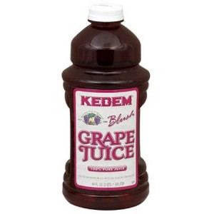 Kedem 100% Pure Kosher Blush Grape Juice, 64 oz [Case of 8]