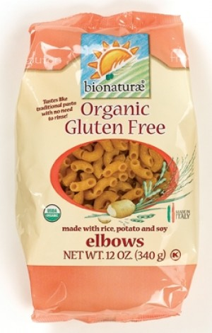 Bionaturae Organic Gluten Free Pasta, Elbows - Case of 6