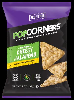Gluten Free Popcorners, Cheesy Jalapeno White Cheddar, 7 Oz [12 bags]