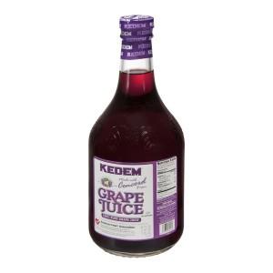 Kedem 100% Pure Kosher Concord Grape Juice, 50.7 oz [Case of 8]