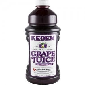 Kedem 100% Pure Kosher Concord Grape Juice, 64 oz [Case of 8]