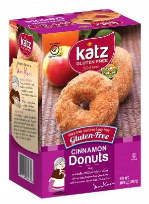 Katz Gluten Free Cinnamon Donuts [Case of 6]