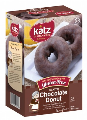 Katz Gluten Free Glazed Chocolate Donuts, 10.5 0z (2 Pack)