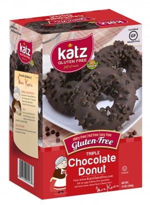 Katz Gluten Free Triple Chocolate Donuts, 14 oz