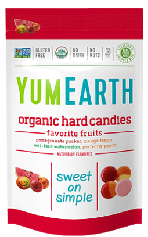 Yummy Earth Family Size Organic Drops Pouch, Pomegranate Pucker Drops