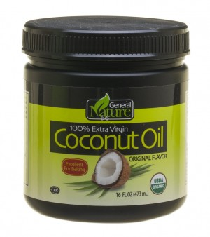 General Nature 100% Extra Virgin Coconut Oil, Original  (Case of 8)