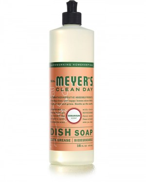 Mrs. Meyer's Clean Day Liquid Dish Soap, Geranium, 16 Oz