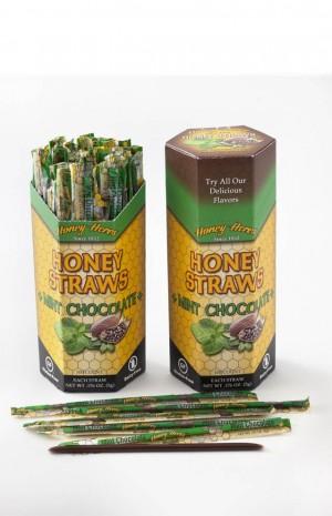 Honey Acres Honey Straws, Chocolate Mint Honey, 100 Straws