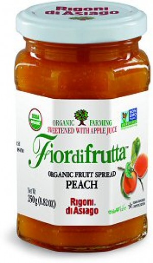 Fiordifrutta Organic Jam Spread, Peach, 8.82 OZ (Case of  6)