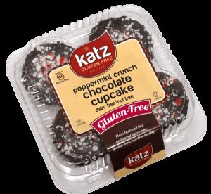 Katz Gluten Free Peppermint Crunch Chocolate Cupcake