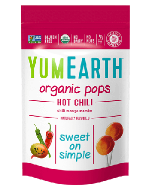 Yummy Earth Organic Lollipop Pouch, Hot Chili Pops