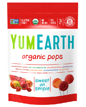 Yummy Earth, Assorted Organic Pops, Family Size, 8.5 Oz Pouch