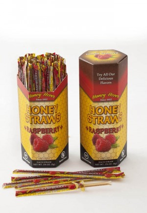 Honey Acres Honey Straws, Raspberry Flavor, 100 Straws