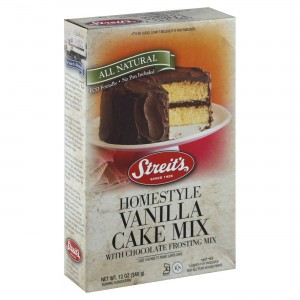 Streit's Gluten Free Vanilla Cake Mix With Frosting, 12 Oz Box [6 Pack]
