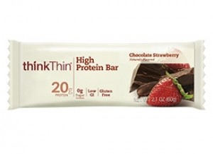 Think Thin High Protein Bars, Chocolate Strawberry, 2.1 oz [10 Pack]