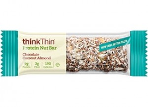 Think Thin Protein Nut Bars, Chocolate Coconut Almond, 1.41 oz [10 Pack]