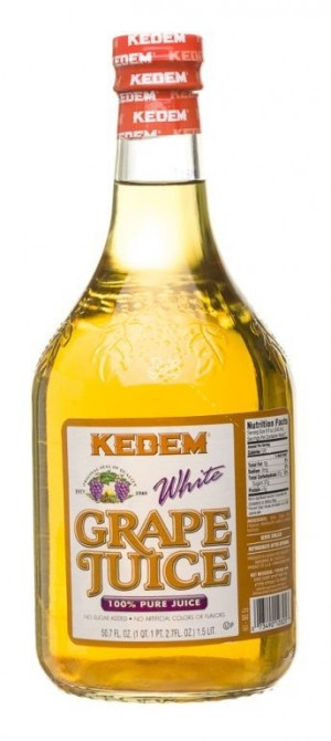 Kedem 100% Pure Kosher White Grape Juice, 50.7 oz [Case of 8]