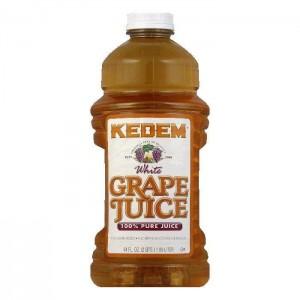 Kedem 100% Pure Kosher White Grape Juice, 64 oz [Case of 8]