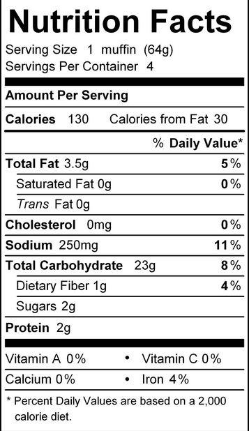katz english muffin nutrition