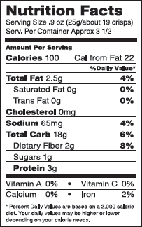 goldbaum quinoa crisp salt nutrition