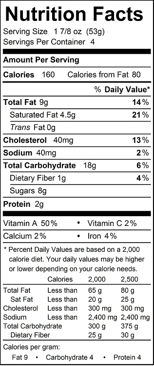 katz pumpkin pie nutrition