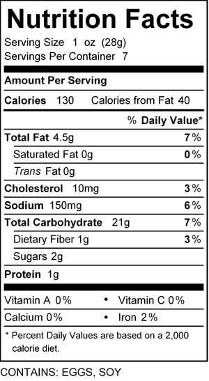 katz bread crumb nutrition