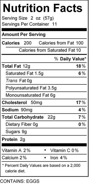 katz cherry pie nutrition