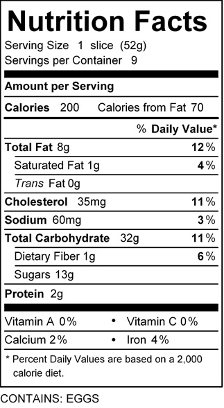katz chocolate strip nutrition