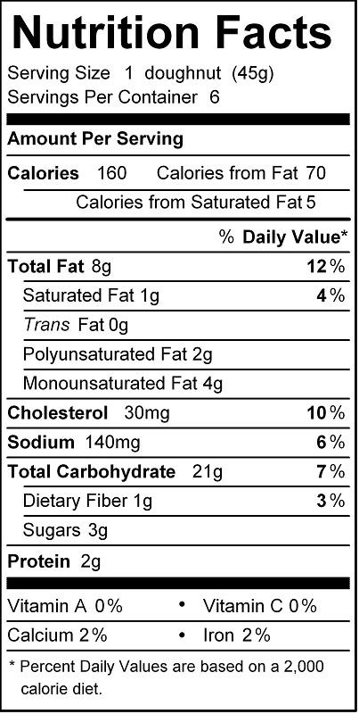 katz cinnamon donut nutrition