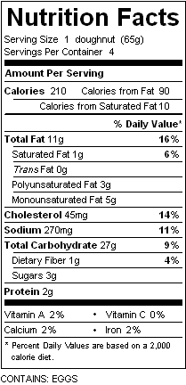 katz custard donuts nutrition
