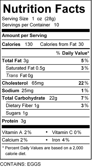 katz farfel nutrition
