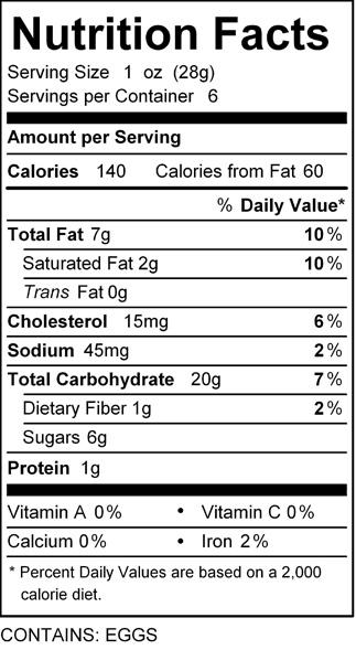 katz vanilla cookies nutrition