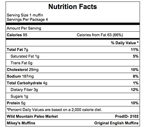 mikey's muffin english original nutrition