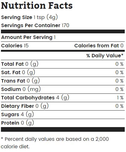 wholesome sweetener dark brown sugar nutrition
