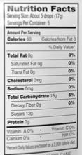 yummy earth peppermint nutrition