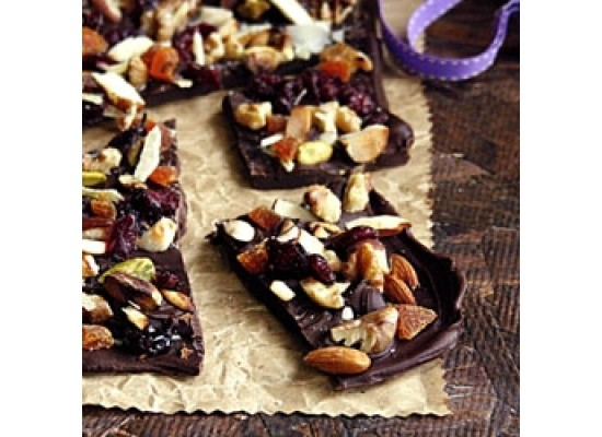 Dried Fruit Chocolate Bark