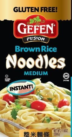 Gefen Fusion Pasta, Instant Noodles, Medium, 11.6 Oz (12 Pack)