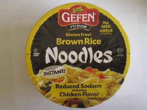 Gefen GF Brown Rice Noodle Bowl, Reduced Sodium, Chicken (12 Pack)
