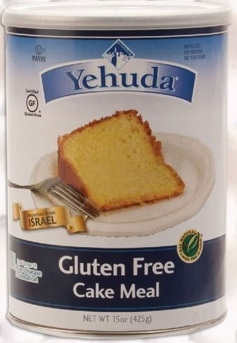 Yehuda Gluten Free Cake Meal, 15 Oz. Canister (6 Per Case)