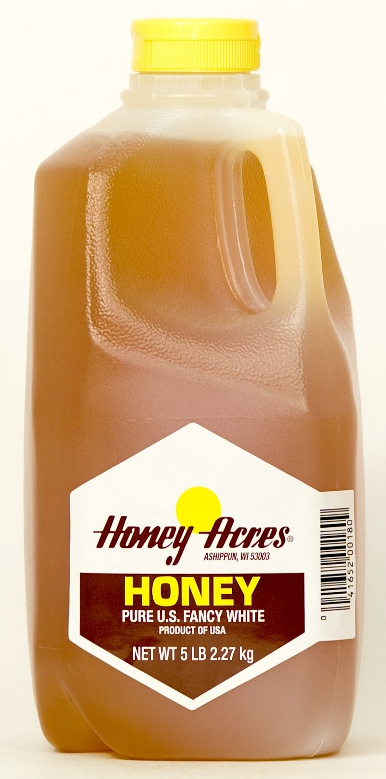 Honey Acres Honey, Pure Clover Honey, 5 lb Squeeze Bottle