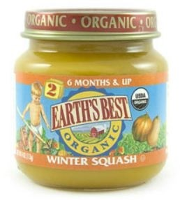 Earth's Best Baby Food Jar, Strained Winter Squash