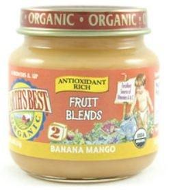 Earth's Best Baby Food Jar, Bananas and Mango